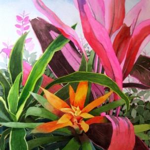 10. Bright Florals, Watercolors, 30x22 SOLD