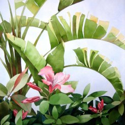 11. Blooming in Pink, Watercolor, 40x30 SOLD