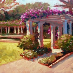 11. Morning at the Society Four Arts, Oil on panel, 12x16, $900