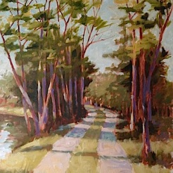 13. End of the Road, Oil on canvas Sold