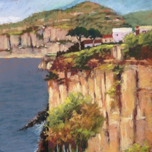 17. Amalfi Coast Pastel, 16x13, $700