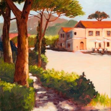 20. Ravello Piazza, Oil on Panel, 16x12 $900