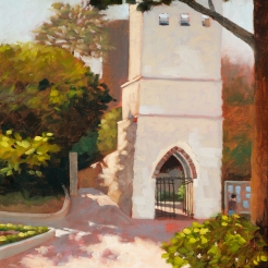 21. Ravello, Ruffolo Garden Entrance, Oil on Panel, 16x12 $900