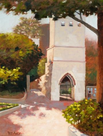 21. Ravello, Ruffolo Garden Entrance, Oil on Panel, 16x12 $900