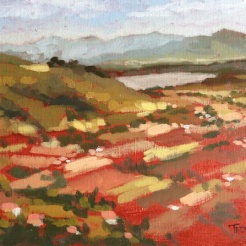 23. Cortona Valley from Piazza Garibaldi, Oil on Canvas, 8x10 $500