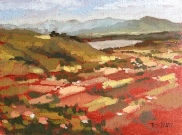 23. Cortona Valley from Piazza Garibaldi, Oil on Canvas, 8x10 $500