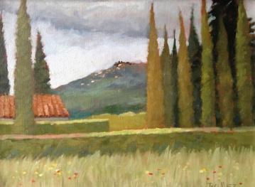 24. Cortona, After the Rain, Oil on Panel, 8x10 $500