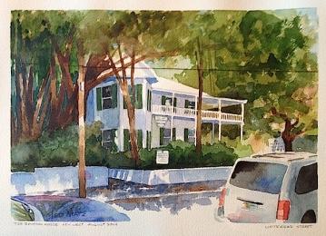 26. Banyon House, Key West, Watercolor , 9x12, $700