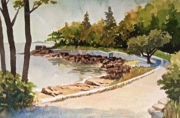 28. Bar Harbor, Maine, Watercolor, 9x12, $700