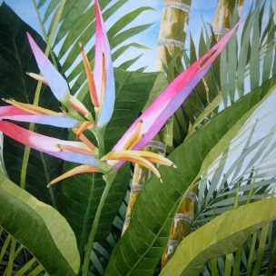 3. Bird of Paradise, Watercolor, 30x22, $2100