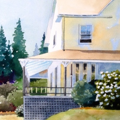 30. Southwest Harbor, Maine Watercolor , 14x10, $700