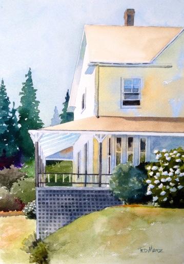 30. Southwest Harbor, Maine Watercolor , 14x10, $700