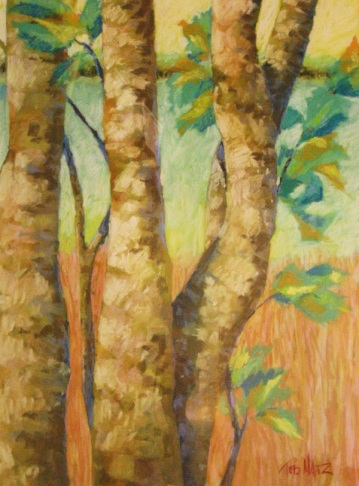 32. By the Okeeheelee Pond, pastel, 23x17, $900