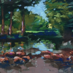 35. The Pond, Pastel, 11x14 $500
