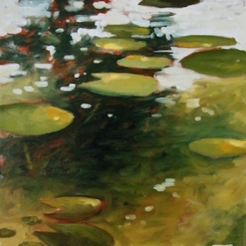 36. Lily Pads1, Society Four Arts, Oil on Canvas, 16x12, $900