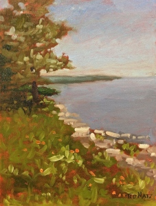37 Maine Coast, Oil on Panel, 12x9 SOLD