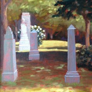 38. Maine, Somesville Cemetery, Oil on Panel, 16x12 $900