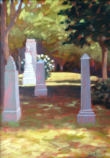 38. Maine, Somesville Cemetery, Oil on Panel, 16x12 $900