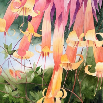 4. Hanging Around, Watercolor, 30x22 $2100