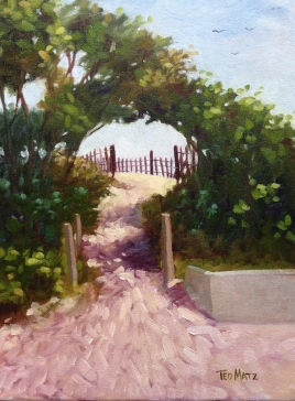 4. Surfers Path, Oil on Panel, 16x12 $900