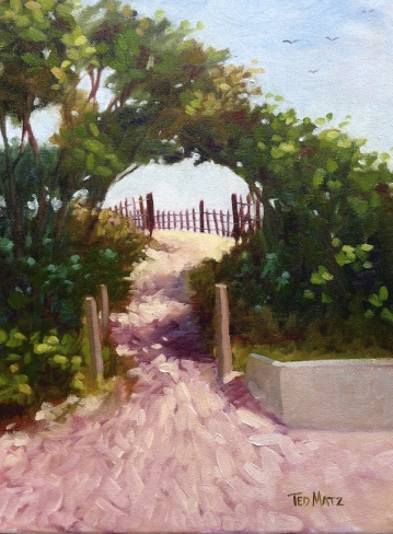 4. Surfers Path, Oil on Panel, 16x12 $900