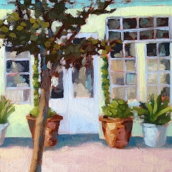 8. Northwood Shop, Oil on Panel 12x9 $500
