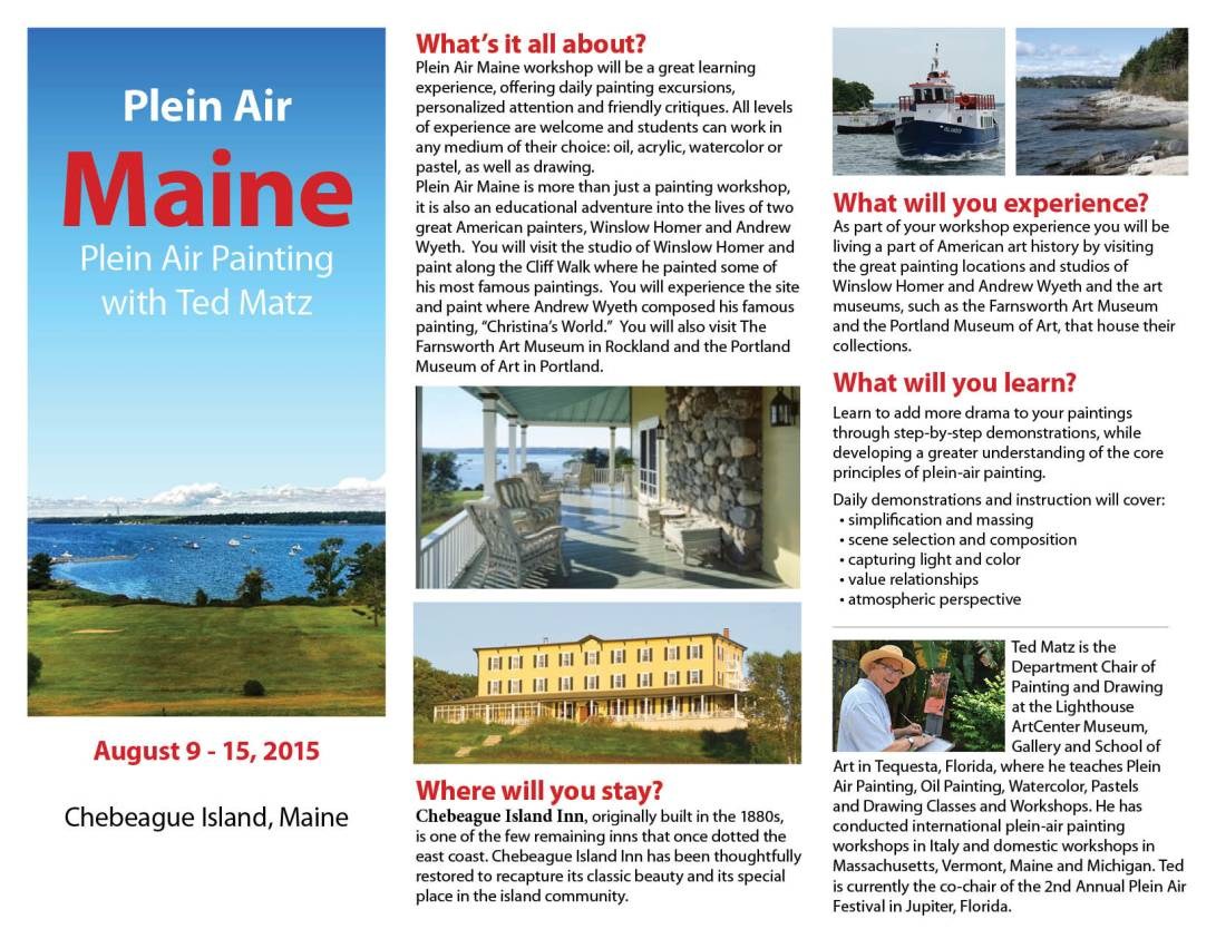 Plein Air Maine with Ted Matz